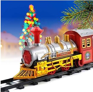 【To Global】Christmas Train Track Toy with Sound Light Decoration Kids Childre...