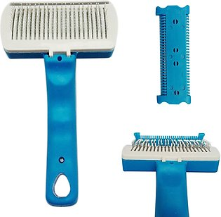 (photo)New Pet Dog Cat Grooming Self Cleaning Brush Comb Hair Fu