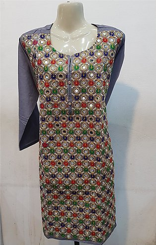 Lawn Embroidered Shirt Stitched Kurti for women