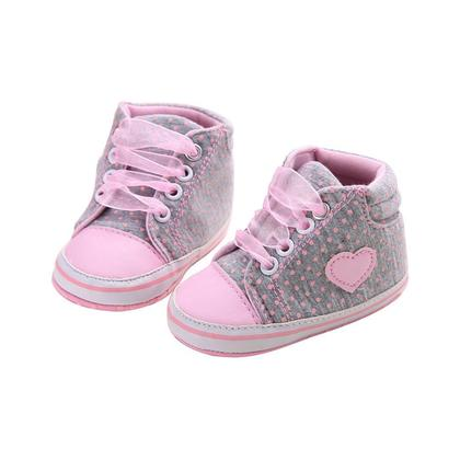 0-18M Baby Shoes Girls Soft Soles Canvas Sneaker Prewalkers
