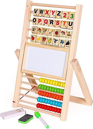 Multifunction Abacus Learning Stand Wooden Montessori Toys Counting Cognition B…