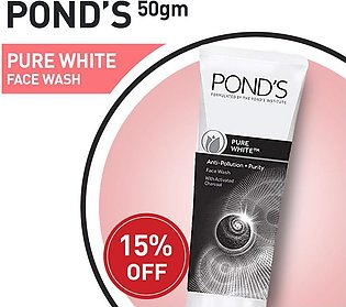 15% off on PONDS PURE WHITE FACE WASH 50G