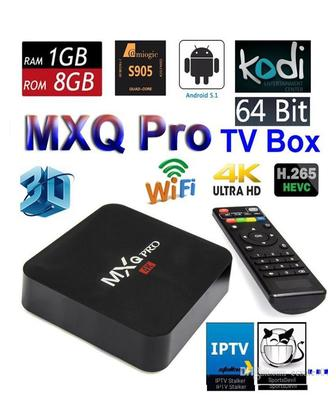 Android TV Box - 4K Quad Core - 2.0GHZ - Black ( INDIAN CHANNELS Also Available in it )