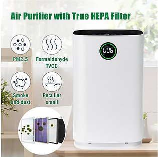 Augienb Air Purifier CADR 500m3/h Ionic Odor Dust Remover 6 Stage HEPA Filter...