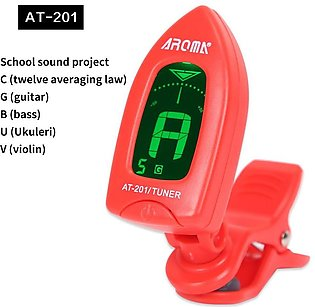 AT-201 Universal Clip-on Digital LED Tuner For Guitar, Violin And Ukulele