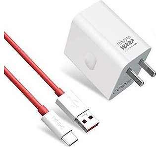 Oneplus 7T charger Original 30W warp charger Power adapter Type-C Cable 5V 6A...