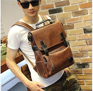 Genuine Cow Leather Backpacks Men'S Personalized Backpack Travel Leisure Bag ...