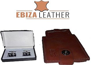 Uniworth Pack Of 2 - Men Leather Wallet Men & Cufflinks