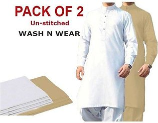 Wash N Wear Unstitched Suit For Men Winter Collection Pack Of 2