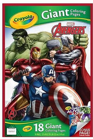 Crayola Avengers Assemble Giant Coloring Pages