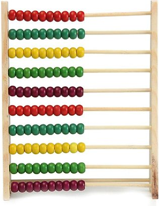 100 Beads Wooden Abacus Counting Number Preschool Kid Math Learning Teaching To…