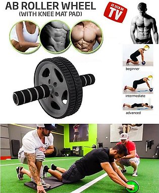 Ab Wheel Roller for Abdominal Exercise with Free Knee Mat
