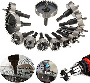 13PCS Hole Saw Tooth Kit HSS Steel Drill Bit Set Cutter Tool For Metal Wood A...