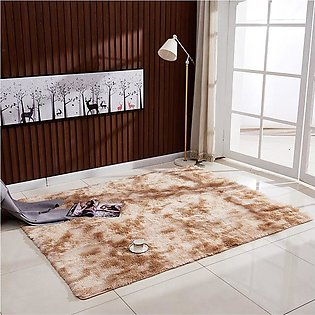 Ultra Soft Tie-Dye Style Gradient Color Carpet Floor Bedroom Mat Rectangle Sh...