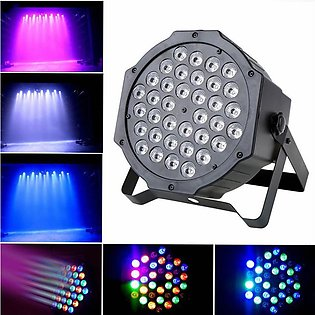 36 LED Purple Stage 72W Light Flat Par Lamp DMX512 Club DJ Party Disco Lighting