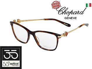 Chopard Spectacles VCH244S 0752 Acetate Havana 23K Gold Plated Red Enamel Heart…