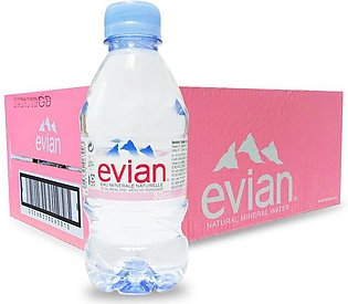 PACK OF 12 : EVIAN MINERAL NATURAL WATER 330ML IMPORTED