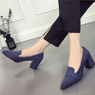 Women's Pointed Wild Shoes Shallow Mouth High Heeled Single Shoes Ladies Shoes