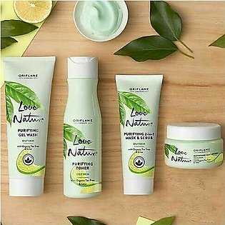 LN Skin Care Set for oily skin with tea tree and lime