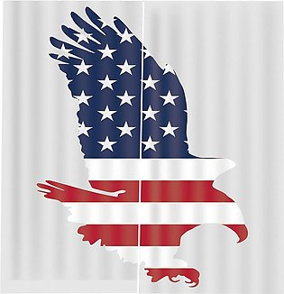 Flag Cloth Eagle Window Curtain for Home Living Room Bedroom Window Decoration