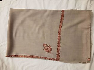 Pure Natural Color Kashmiri Pashmina Shawl With Embroidery