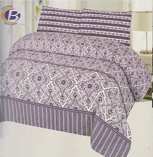 King Size Bed Sheet With 2 Pillow Cover