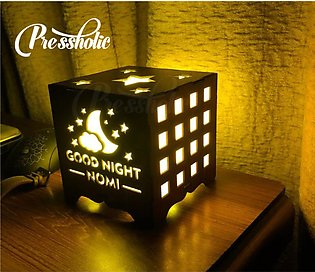 Customized Wooden LED Light Box - Special Good night LED Wooden Box