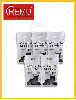 Remu - Pack Of 5 Clumping Cat Litter - 5 Litter