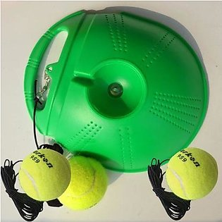 HOT Single Tennis Trainer Portable Fill & Drill Base Youth Practice Training Ai…