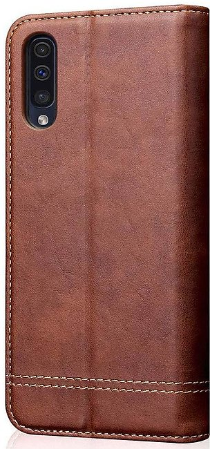 Fairy Touch Finest Rich Boss Leather Mobile Flip Case for Samsung Galaxy A70