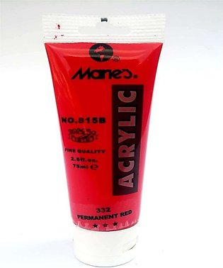 Maries Acrylic Paints Tubes - Permanent Red - 75 ml