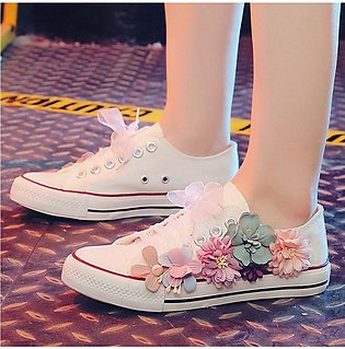 Women's Summer Sneakers Soft Comfortable Casual Lace-up Floral Casual Shoes