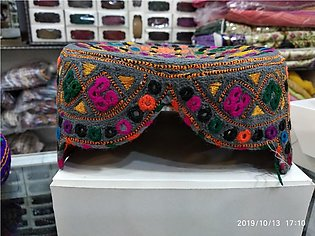 Sindhi Topi Hand Made Multicolored Embroidery Work Traditional  Sindhi Topi C...