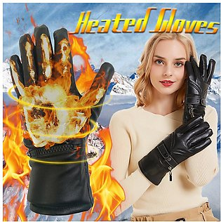 Motorcycle Touch screen Electric Heated Gloves Warm Hands+Rechargeable Batter...