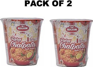 kolson Instant Noodles Cups Pack Of 2 Cups Chatpata Flavor 50 grm each