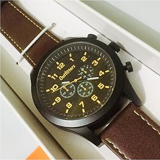 Outfitters Men's Watch - Boys Watch - Accessories For Him - Leather Strap - O...