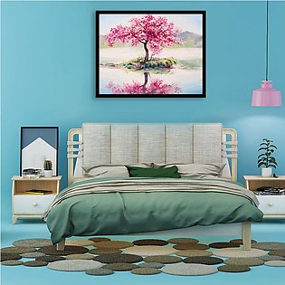 Painting By Numbers Peach Tree Reflection DIY Drawing By Numbers Frameless Home…