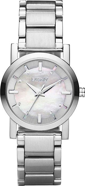 DKNY NY4519 mother of pearl dial stainless steel bracelet women watch NEW