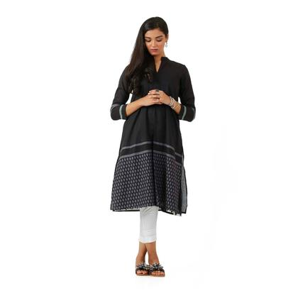 EGO Fall 2019 Duo Black Cotton Kurti For Women