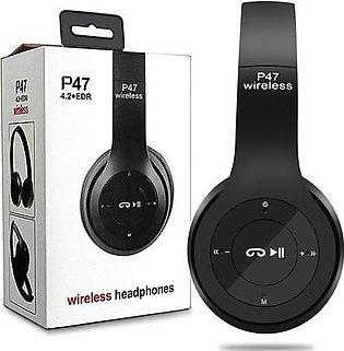 P47 Wireless Bluetooth Headphones Latest 4.2+EDR with Mic Stereo Headset Supp...