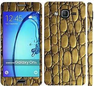Samsung Galaxy On5 2015 Golden Snake Leather Texture Mobile Skin