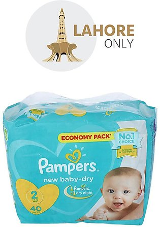 2 Pampers 3-8Kg Mini 40 Diapers