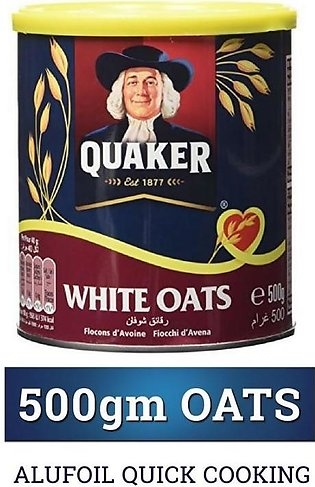 Quaker White Oats (Quick Cooking) 500gm Tin
