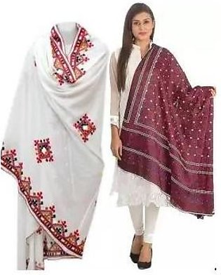 Pack of 2 - Sindhi Embroidered Ajrak & Shawl