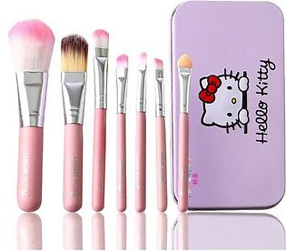 7pcs Makeup Brush Set with Iron Mini Box Make Up Tool Kits Facial Brushes Cosme…