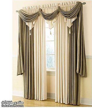 Fancy Cotton Satin Curtain For Home/Office 08