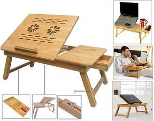 Bamboo Wood Laptop Table