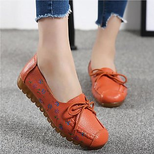 35-42 Women's Comfortable Low-Top With Printed Casual Nurse  Flat Shoes