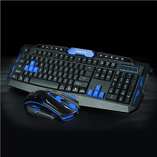 2.4G Bluetooth Wireless Keyboard And Mouse Combo, Gaming Or Office Set For La...