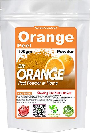 Orange Peel Powder 100% Pure Organic Packet Pouch 100 gm
